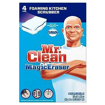 Mr  Clean Magic Eraser Kitchen and Dish Scrubber  4 Count. Amazon com  Mr  Clean Magic Eraser Kitchen and Dish Scrubber  4