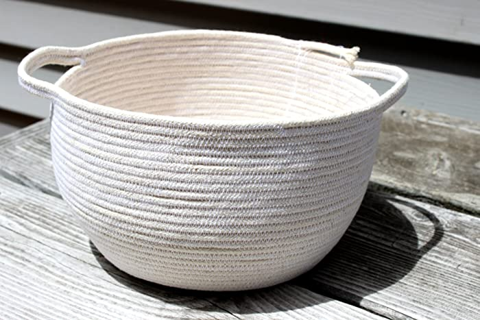 : Coiled Rope Basket, Stitched Rope Basket