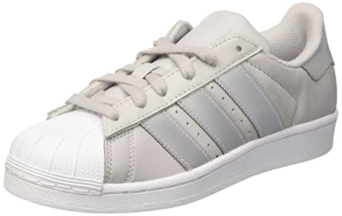 adidas Superstar J, Sneaker Unisex-Bambini, Grigio (Lgh Solid Grey/Silver