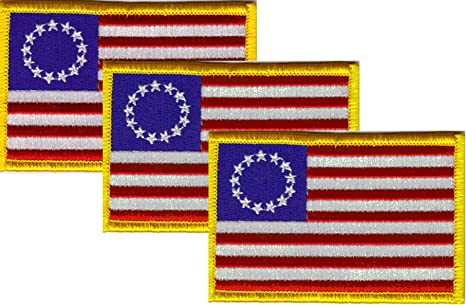 National Flag THE NETHERLANDS FLAG w//GOLD BORDER//Iron On Patch Applique//Europe