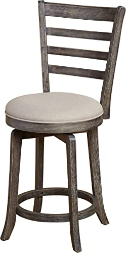 The Mezzanine Shoppe Ashton Wooden Ladderback Kitchen Swivel Stool