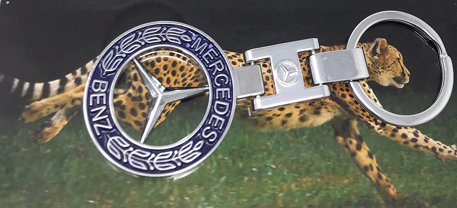 MB Key Chain Best Mercedes Benz Key Chain CHEETAH Keyring Both Side Same Design Special for PET LOVERS