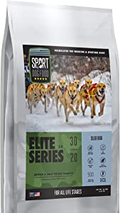 Elite Series Sled Dog Buffalo Formula, Grains, Peas and Poultry Free Dry Dog Food, 30 lb. bag