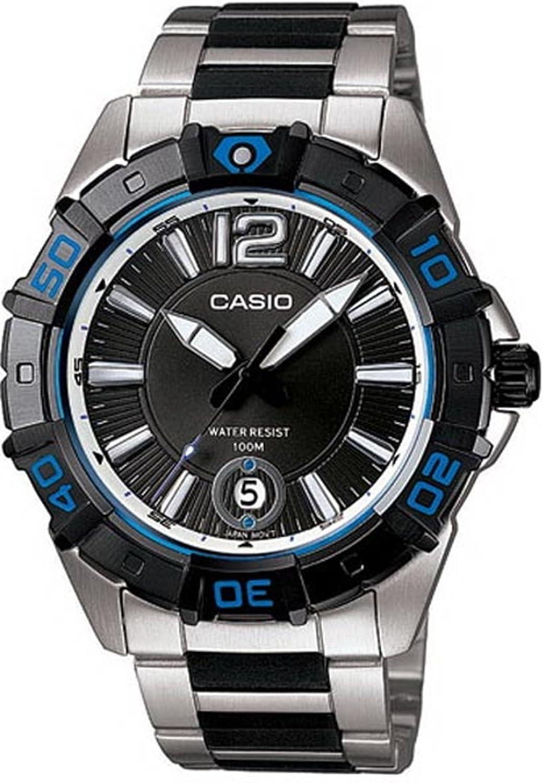 Casio Men s MTD1070D-1A1V Black Resin Quartz Watch with Black Dial