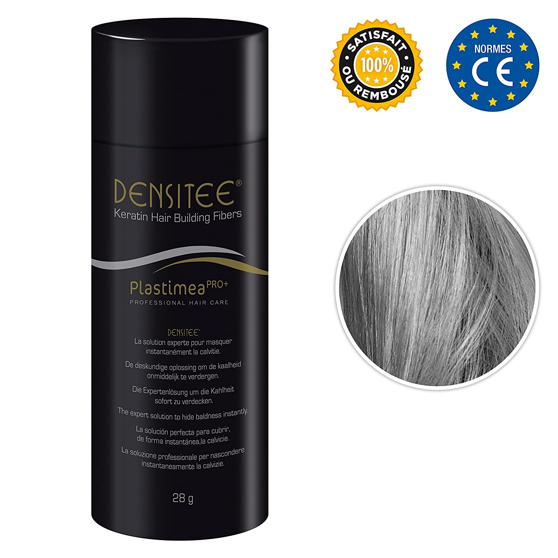 Polvere per capelli DENSITEE - Fibre capillari - Fibre per capelli densificante - Fibre di cheratina - 28 gr Hair Fiber contro la caduta dei capelli e la calvizie - Fibre al 99% di cheratina per Uomo e Donna Plastimea Pro+