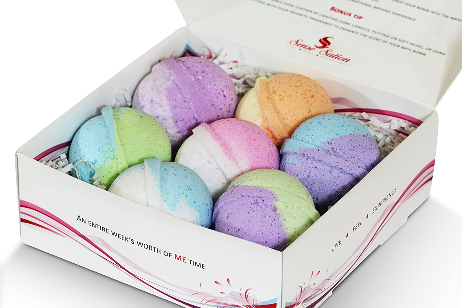 7 Luxurious Bath Bombs set