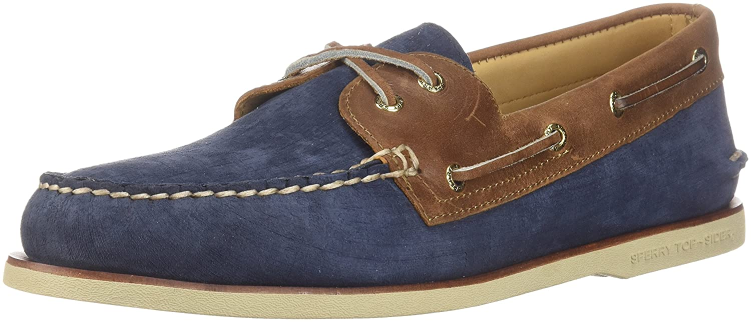 Sperry Top-Sider Gold Cup Authentic Original Boat Shoe  46 EU (M)|Navy/Tan Nubuck