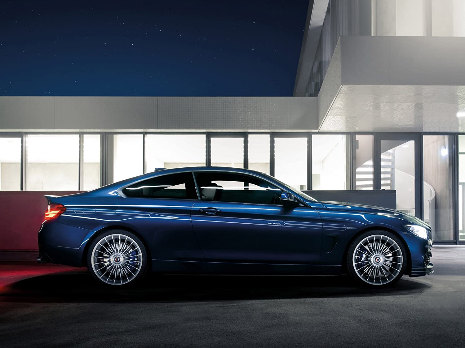 Amazon.com: Alpina B4 Bi-Turbo Coupé based on BMW 435i F32 Japan Version (2013) Car Art Poster Print on 10 mil Archival Satin Paper Blue Side Static View ...