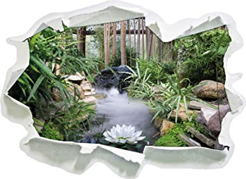 Zen Garden Japon Papier 3d Taille Sticker Mural 92x67 Cm