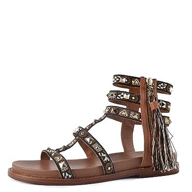 Femme Miracle Cuir Ash Sandales Chaussures En 37 Marron nwvNm80