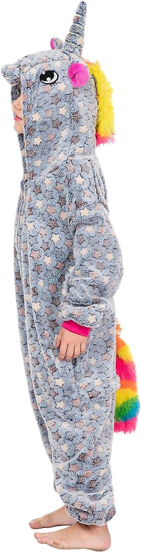 RONGTAI Kid Onesie Unicorn Animal Girls One Piece Pajamas Sleepwear Cosplay Costume