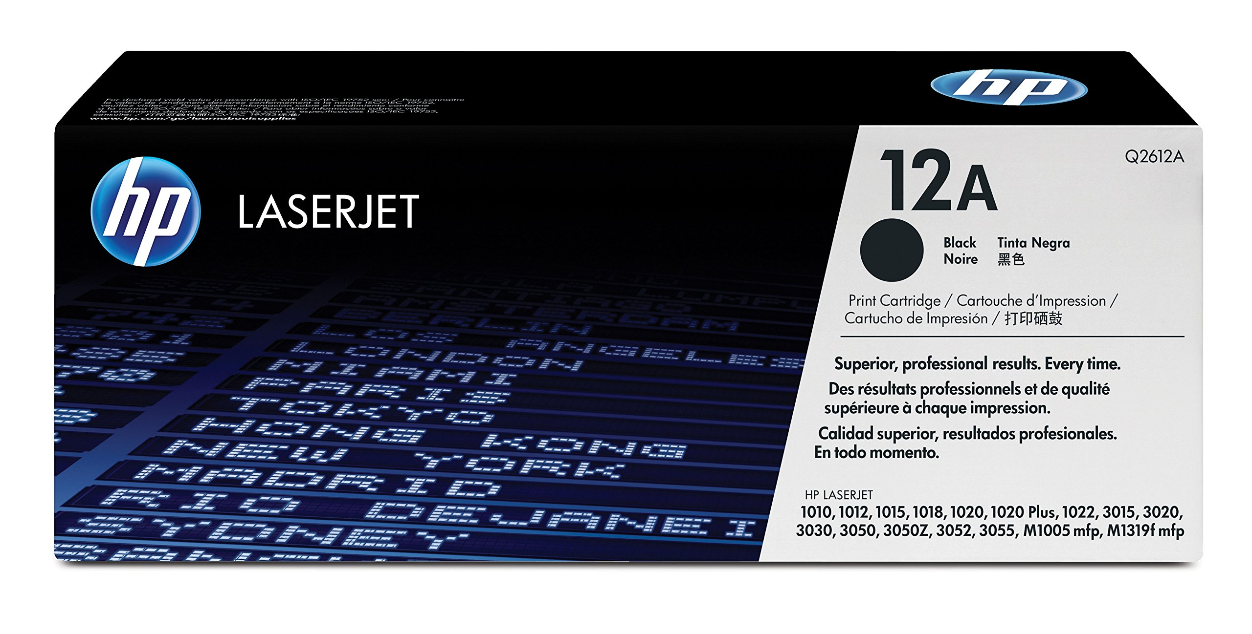 HP 12A (Q2612A) Black Original Toner Cartridge by HP