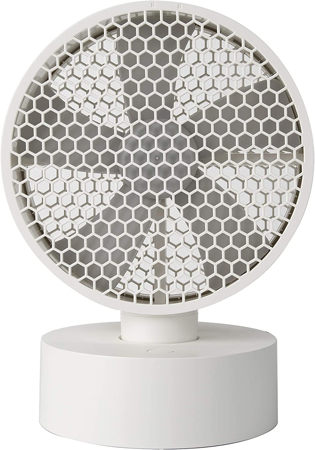 Coolean 8 inch Honeycomb Oscillating Desk Fan White USB 3900mAh battery operated table fan with 4 speeds Quiet Operation Small Portable Personal Fan for Home Bedside Dorm Office Desktop Outdoor Camping Travel