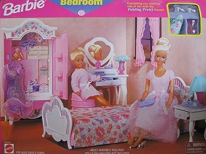 Barbie Bedroom Playset   Folding Pretty House (1997 Arcotoys, Mattel)