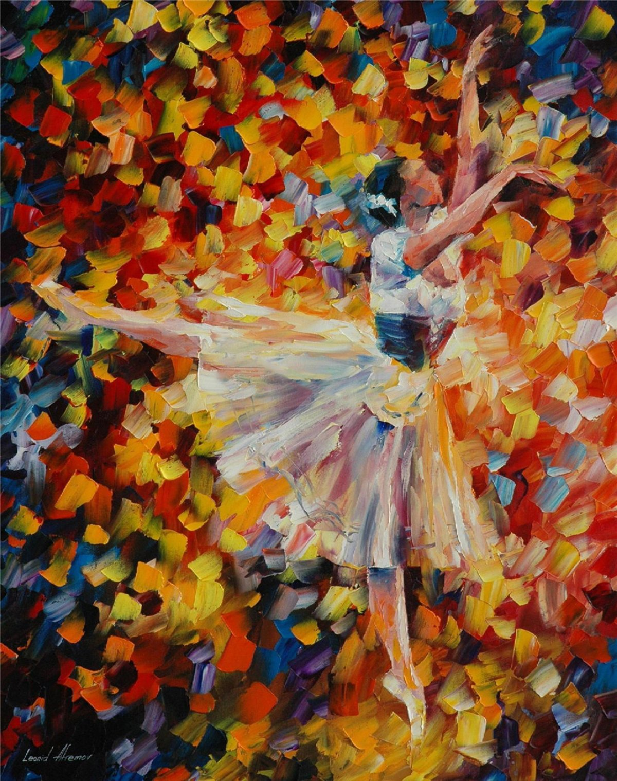 100% Hand Painted Oil Paintings Modern Abstract Art Oil Painting Dancing Girl Home Wall Decor (8X11 Inch, Decor 1)