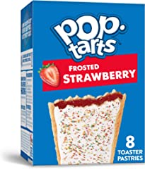 Pop-Tarts Toaster Pastries, Breakfast Foods, Baked in the USA, Frosted Strawberry, 13.5oz Box (8 Toaster Pastries)