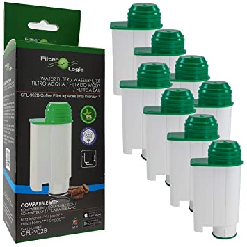 8 x FilterLogic CFL-902B - Filtro de agua reemplaza el cartucho de Saeco nº
