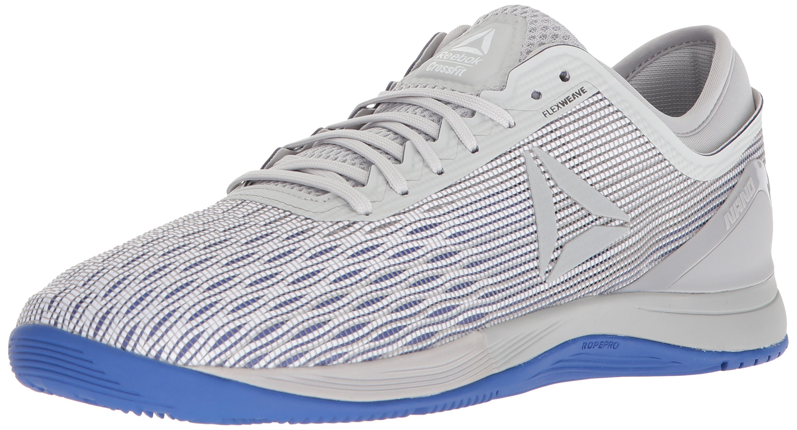 Reebok Men's CROSSFIT Nano 8.0 Sneaker, White/Stark Grey/Skull GR, 6.5 M US