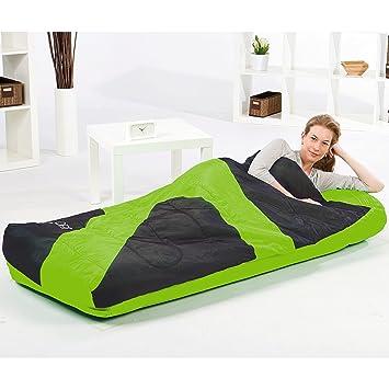 Bestway - Cama hinchable con saco de dormir hinchable aslepa 75 x 54 x 8.5 inch: Amazon.es: Jardín