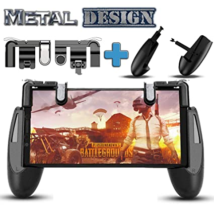 Mobile Game Controller for PUBG Fortnite [Upgrade Version] Gamepad, L1R1  Sensitive Shoot and Aim Triggers Fire Buttons for iOS Android, Cell Phone