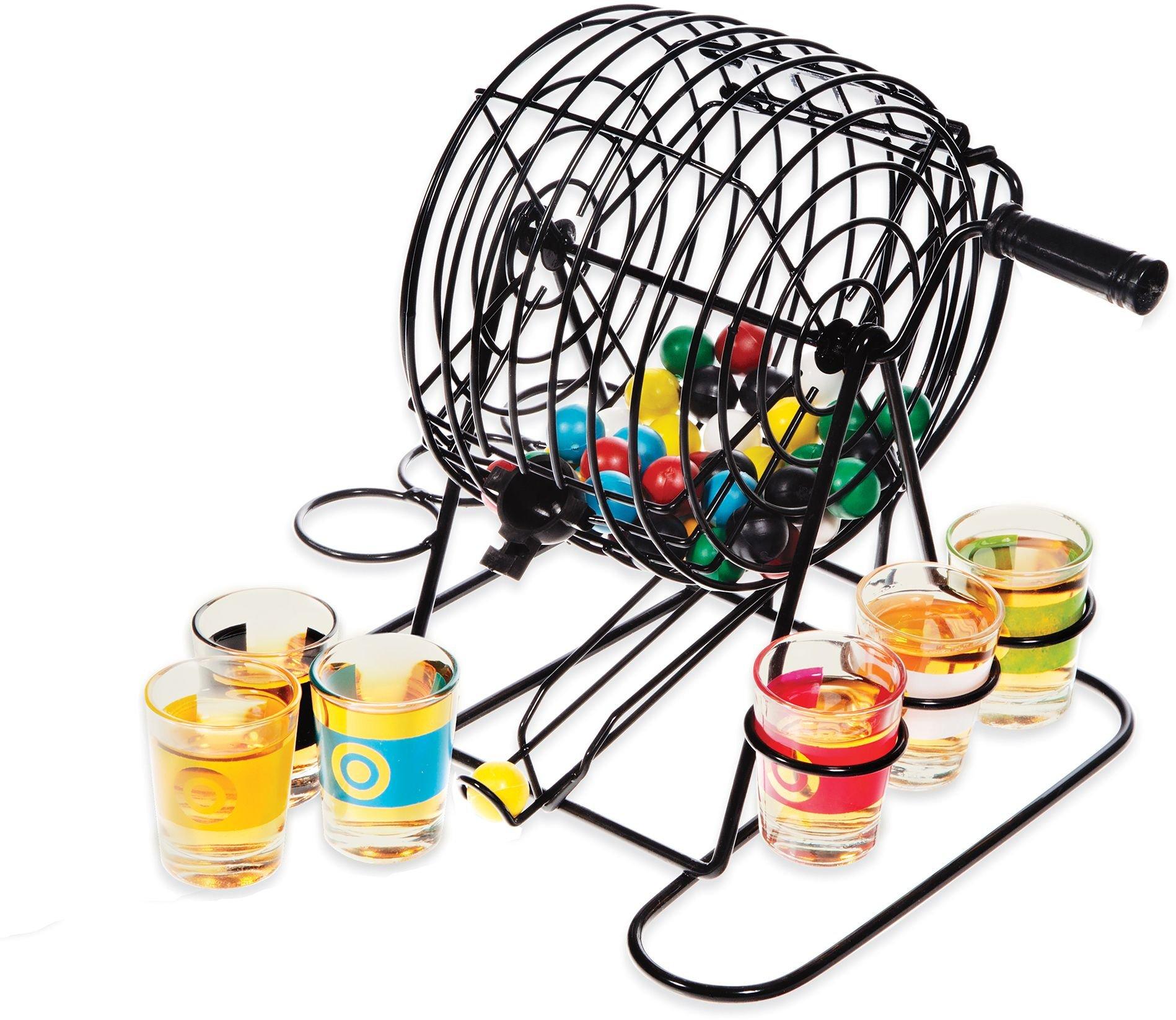 Home Essentials & Beyond Funville Bingo Game with Shot Glasses, Clear by Home Essentials & Beyond
