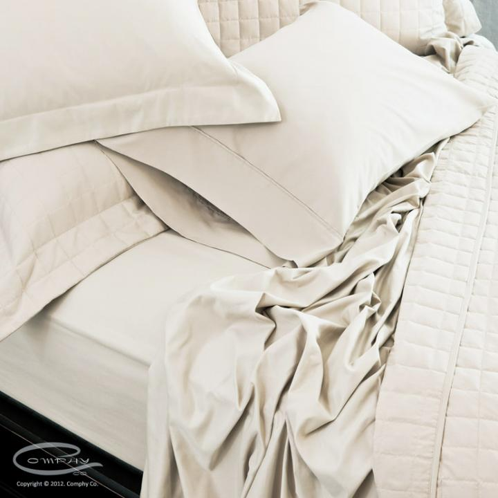 Comphy Luxury Sheets - Queen - Cream