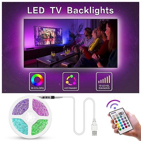 Bason TV LED Backlight, 13.09ft USB Led Lights Strip for TV/Monitor on