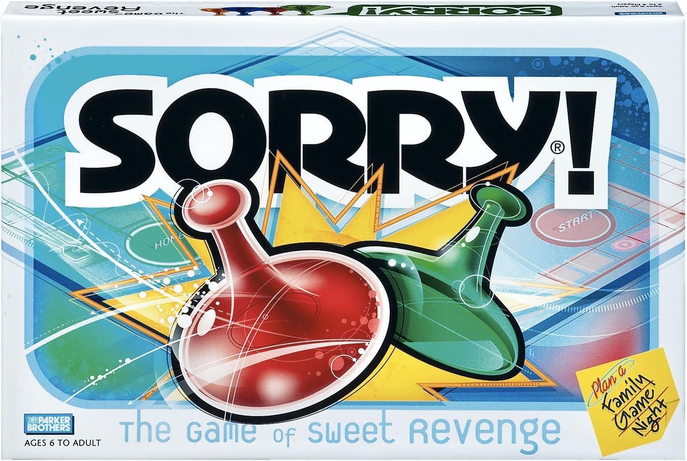 Amazon Com Sorry Board Game Game Night Ages 6 And Up Amazon Exclusive Toys Games
