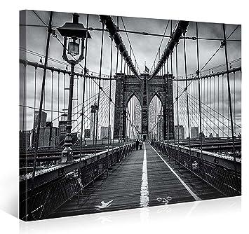 Large Canvas Print Wall Art U2013 BROOKLYN BRIDGE WALK U2013 40x30 Inch New York  Cityscape Canvas