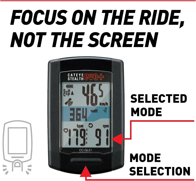 New Cateye Stealth Evo Plus GPS Cycling Computer CC-GL51 ANT USB Strava Bike