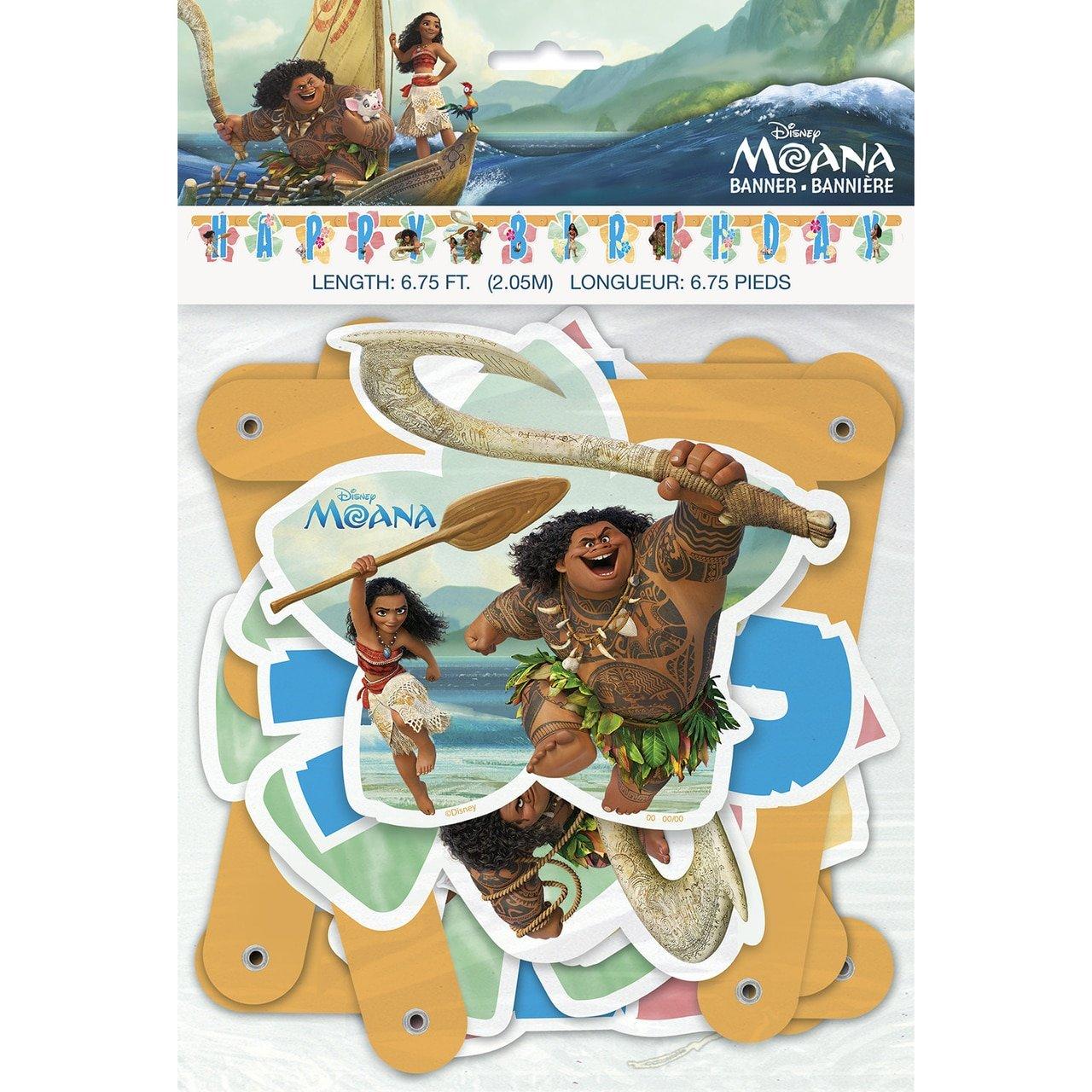 Unique Disney 6.75' Moana Birthday Banner Unique Industries Inc. 59829