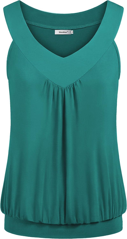 Twinsmall Summer Cami Vest Shirt Womens V Neck Tank Tops Sleeveless Shirts Casul Loose Up Long Tunic Tees