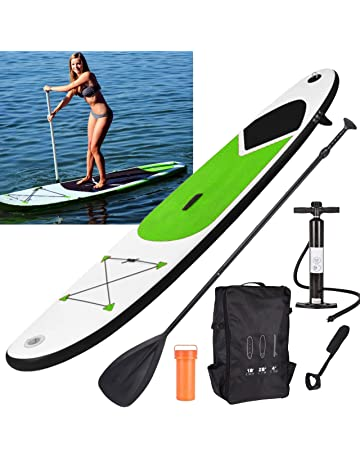74bab9f3ce8 GEEZY Inflatable 305cm SUP Stand Up Paddle Board Surf Board with Adjustable  Paddle, Ankle Strap