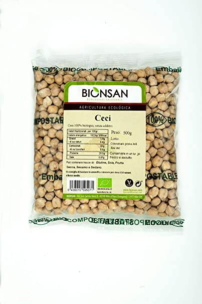 Bionsan Garbanzos de Cultivo Ecológico, 500 gr