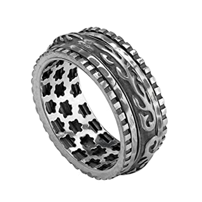 a67f76cf6084c Paz Creations ♥Sterling Silver Mens Spinner Ring