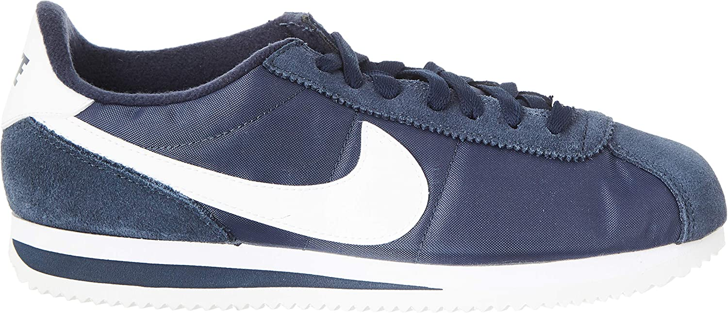 Nike Cortez Basic Nylon, Chaussures De Fitness Homme Multicolore Obsidian White Metallic Silver 411