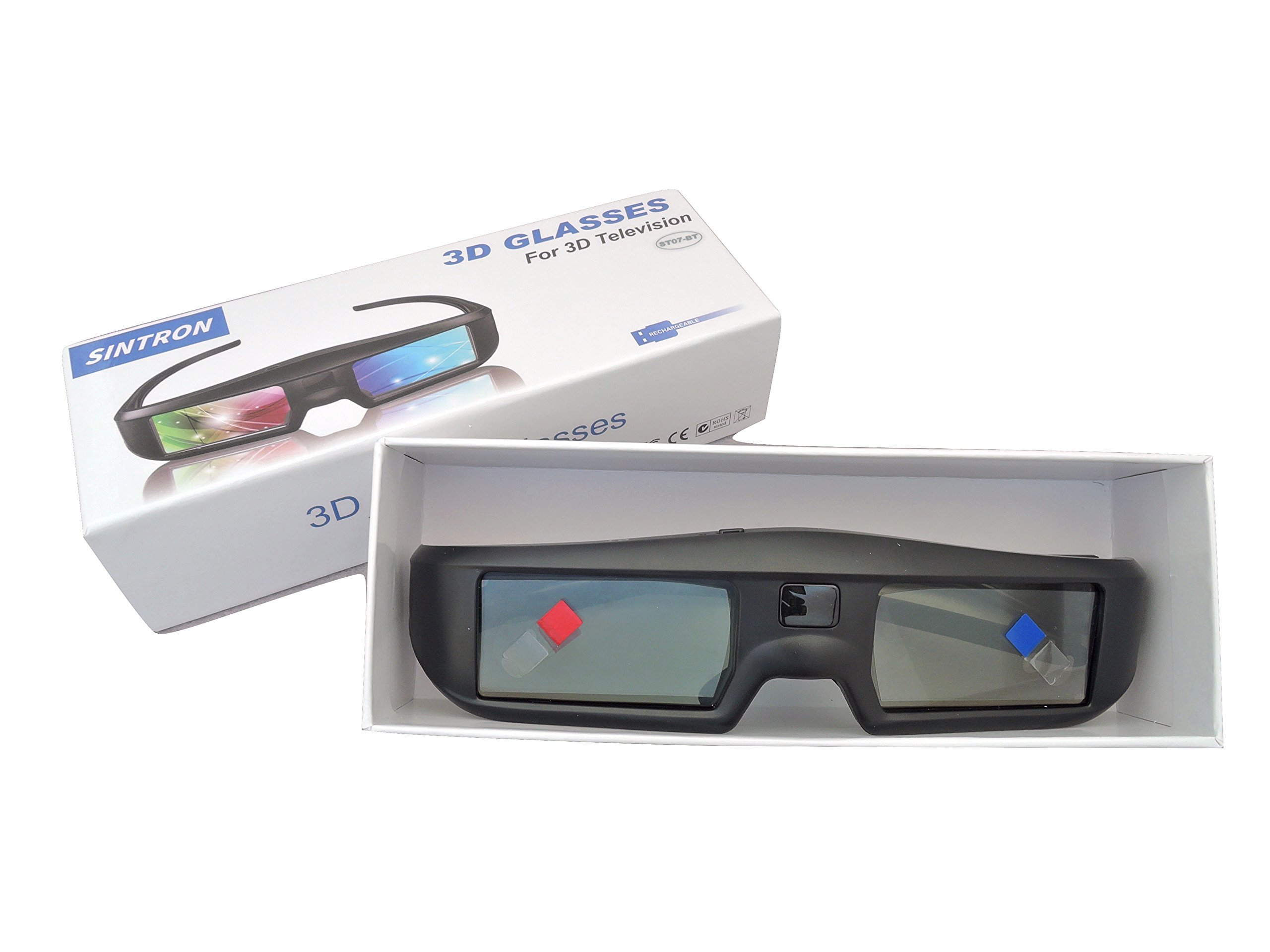 2X 3D Active Shutter Glasses Rechargeable - Sintron ST07-BT for RF 3D TV, 3D Glasses for Sony, Panasonic, Samsung 3D TV, Epson 3D projector, Compatible with TDG-BT500A TDG-BT400A TY-ER3D5MA TY-ER3D4MA by Sintron (Image #7)