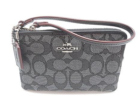 coach c signature logo wristlet hand bag purse outline smoke graycoach c signature logo wristlet hand bag purse outline smoke gray black amazon ca luggage \u0026 bags