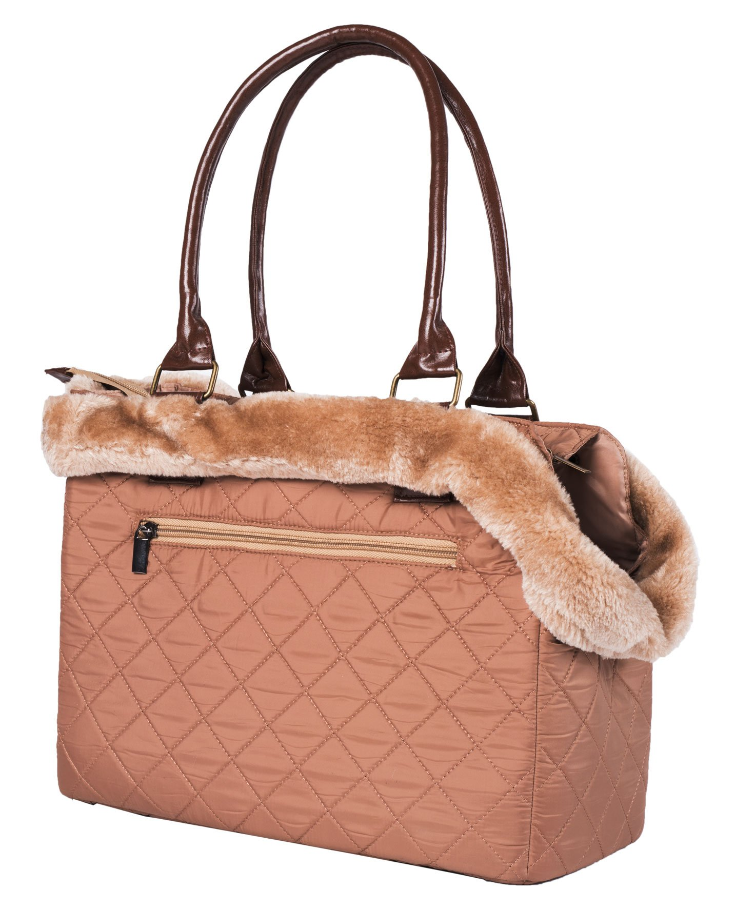 Wouapy Chic Transport Bag for Dog, Brown