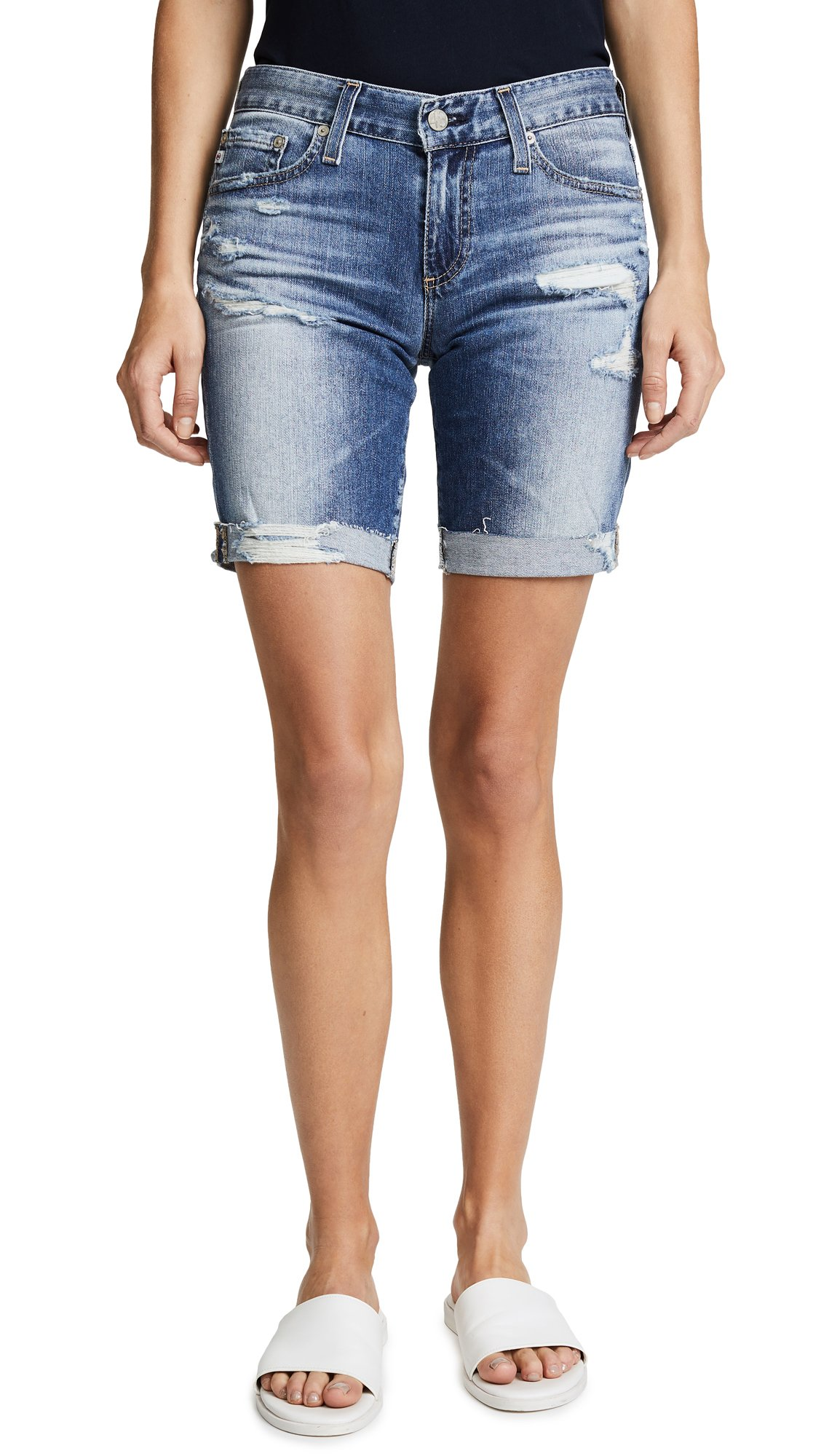 AG Adriano Goldschmied Women's Nikki Denim Short, 16 Years Indigo Deluge Destruc, 24
