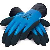 Showa 306l multi-usages Gants, complète Latex Mousse Revêtement sur support 13Gauge Nylon/Polyester Tissu, paume, L, bleu/noir