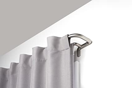 Umbra Twilight Double Curtain Rod Set Wrap Around Design Is Ideal For Blackout Curtains Or
