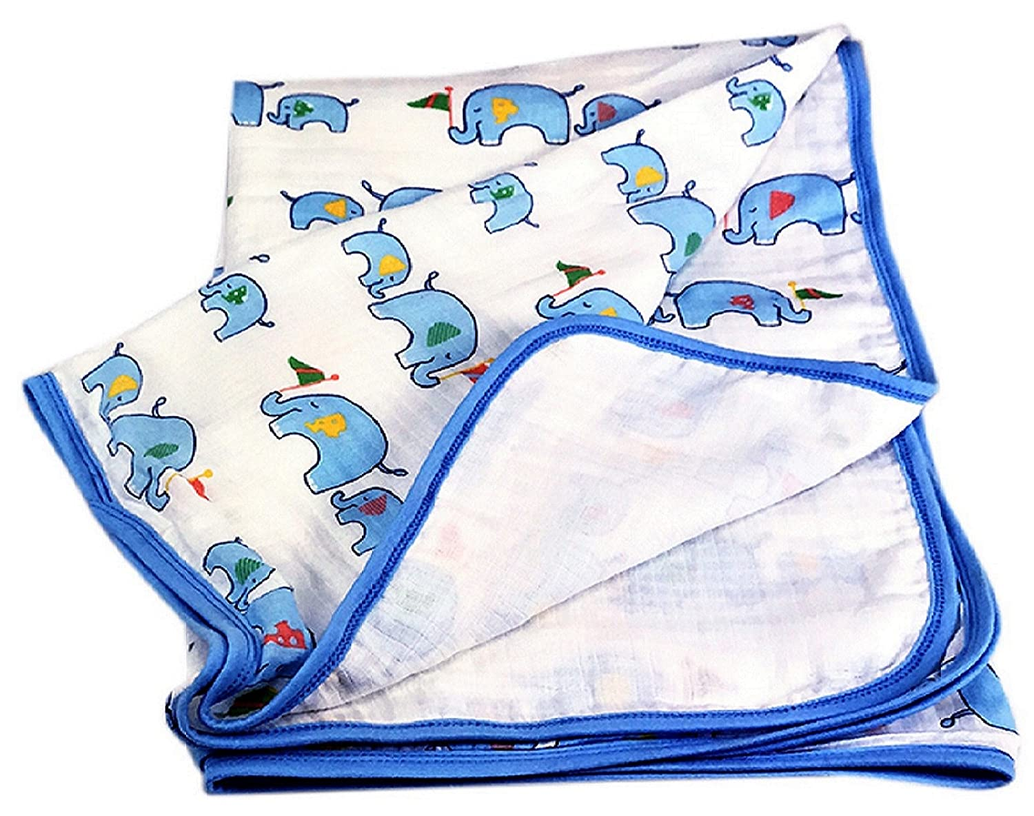 Amazon.com : Two Layers Breathable Muslin Baby Blanket. Soft Cotton ...