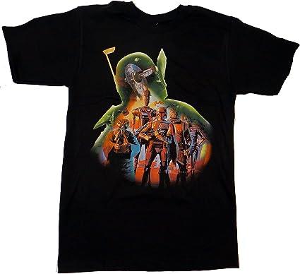 Star Wars Boba Fett Fill Camiseta Negra Para Hombre