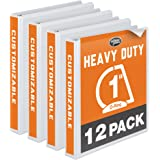 "Wilson Jones Heavy Duty D-Ring View Binder with Extra Durable Hinge, 1"", White, 12-Pack (W385-14WPP1)"