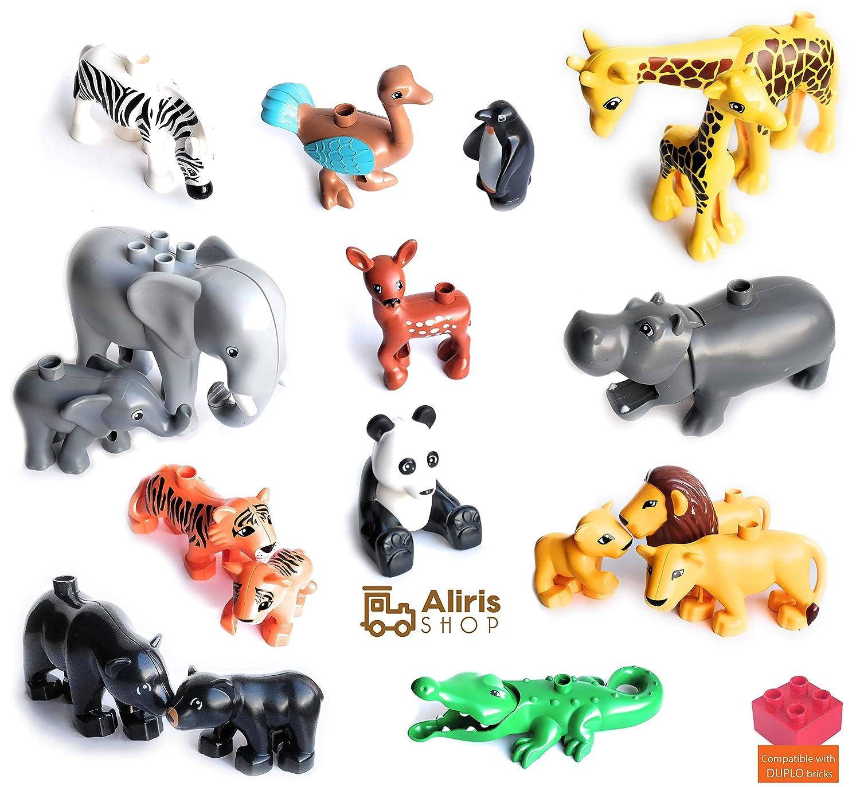 動物園の動物18枚とフェンス5枚 - - Duploと互換性あり B07G8PP1NW。 B07G8PP1NW, ちょっと寄り道したいギフト&雑貨:a5bab986 --- ijpba.info