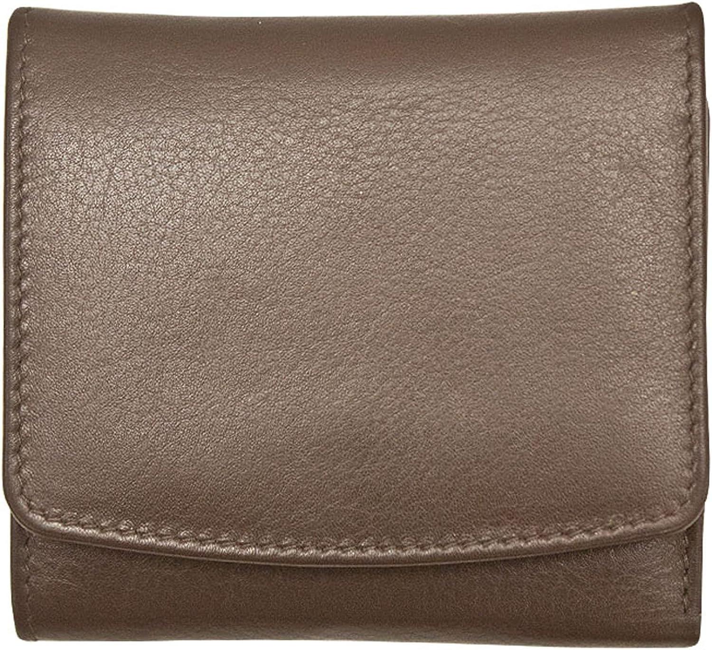 ili 7805 Leather Tri Fold Wallet with RFID Blocking