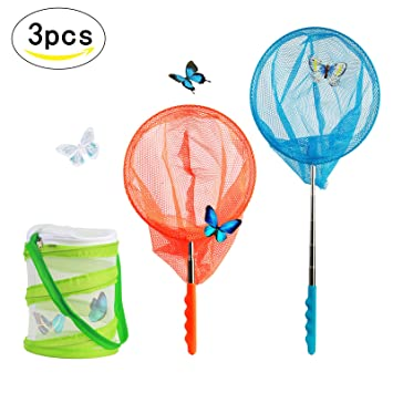 Childrens Kids Extendable Net Telescopic Sea Fishing Bug Butterfly Catcher Mesh!