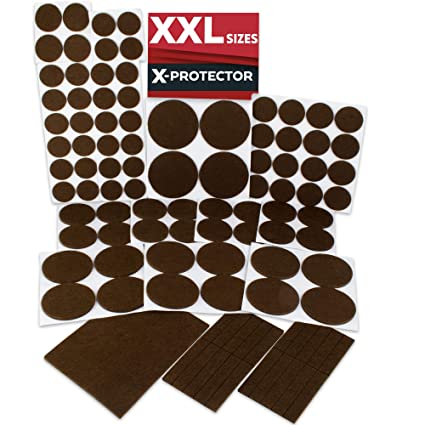 X PROTECTOR Premium XXL SIZES Furniture Pads! BIG SIZES Of Heavy Duty Felt  Pads