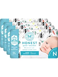The Honest Company Baby Diapers with TrueAbsorb Technology, Space Travel, Size 0 Newborn, 128 Count